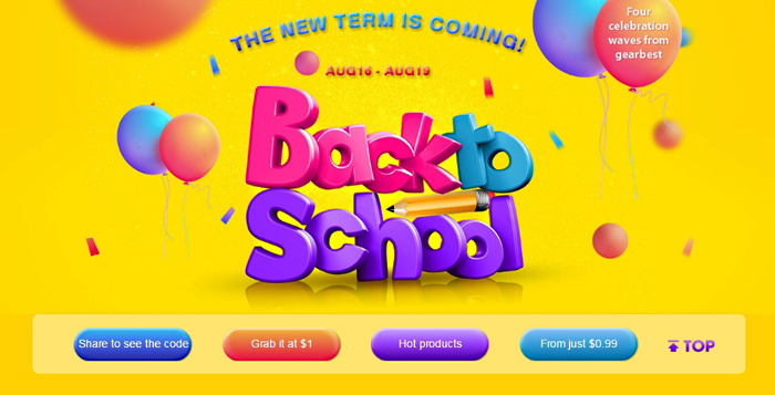 Back to School na Gearbest