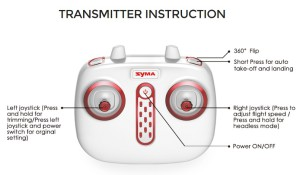 Syma X8SC radio