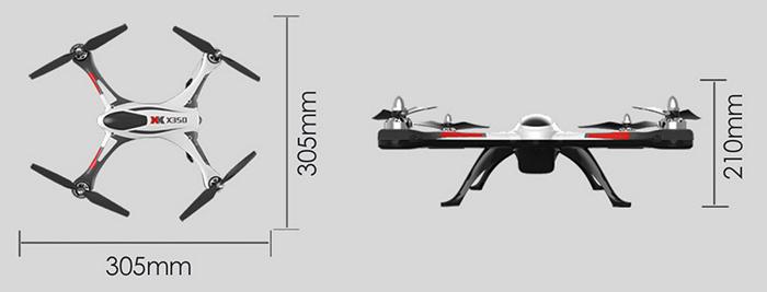 XK X350 rozměry