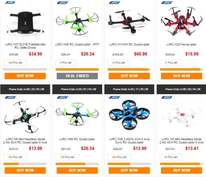 drony od JJRC
