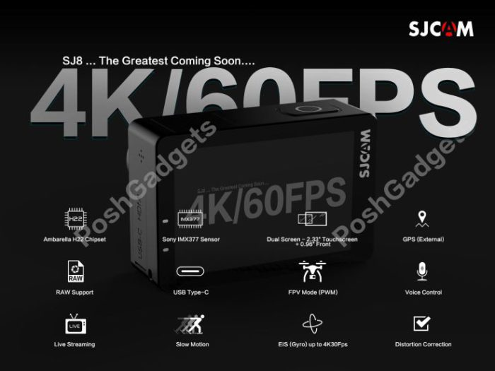 kamera SJCAM SJ8 od SJCAM - specifikace