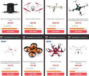 drony v podzimním výprodeji