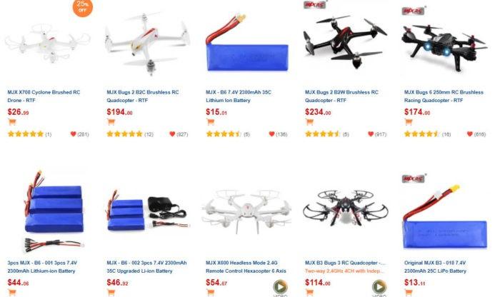 seznam dronů MJX