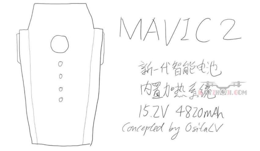 DJI Mavic Pro 2 - spekulace baterka
