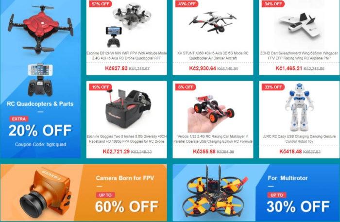 jarní výprodej - drony
