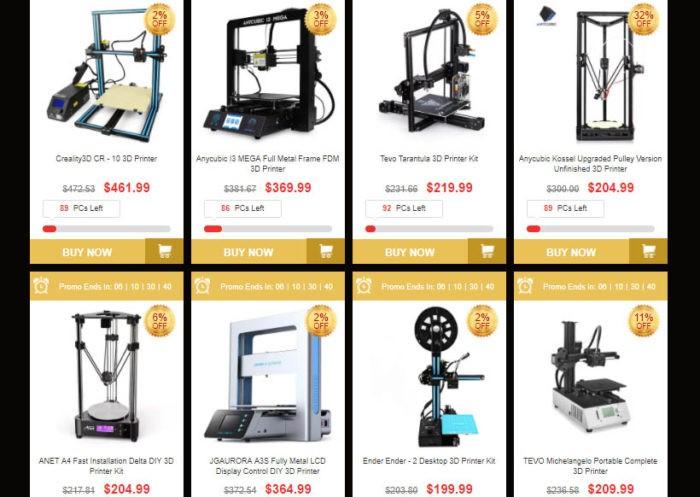 nejprodávanější produkty - 3D tiskárny