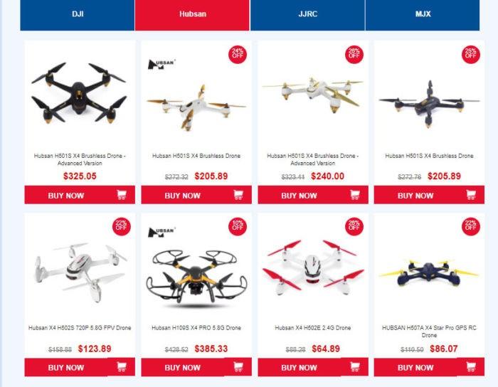 drony v akci na Gearbestu