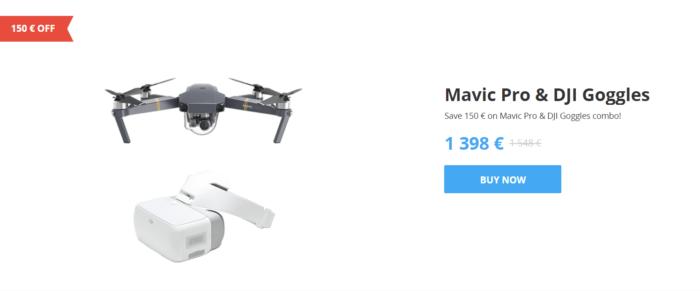 slevy na drony DJI - mavic a Googles