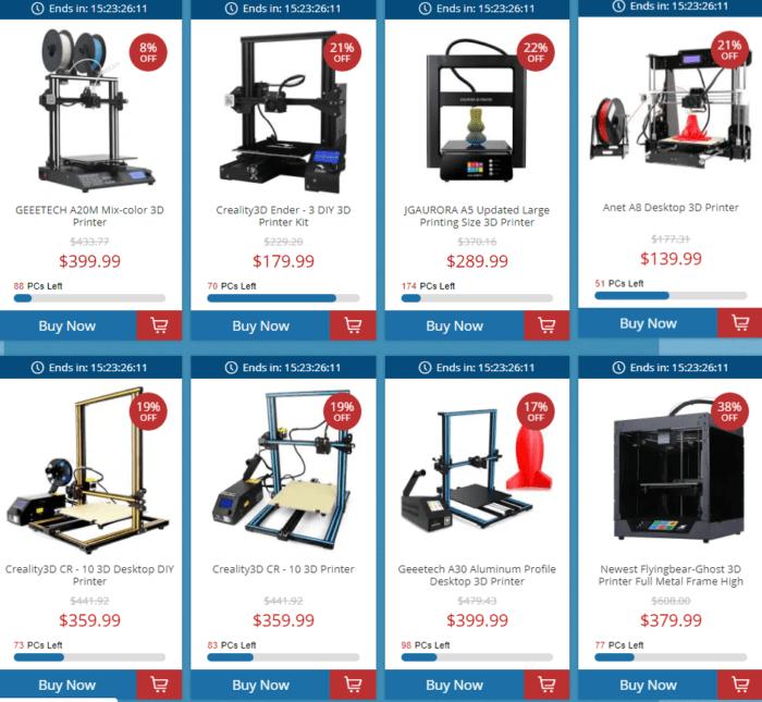 nabídka 3D tiskáren