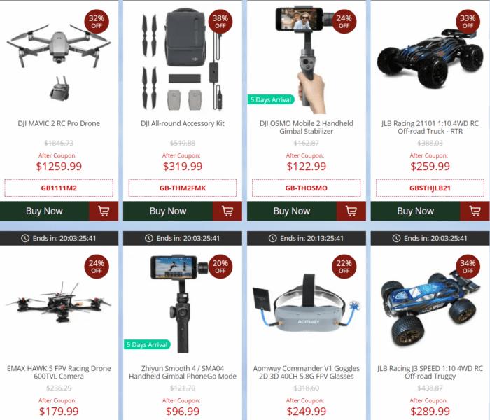 vánoční výprodej dronů