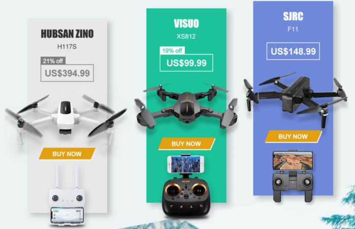 výprodej dronů na Banggood
