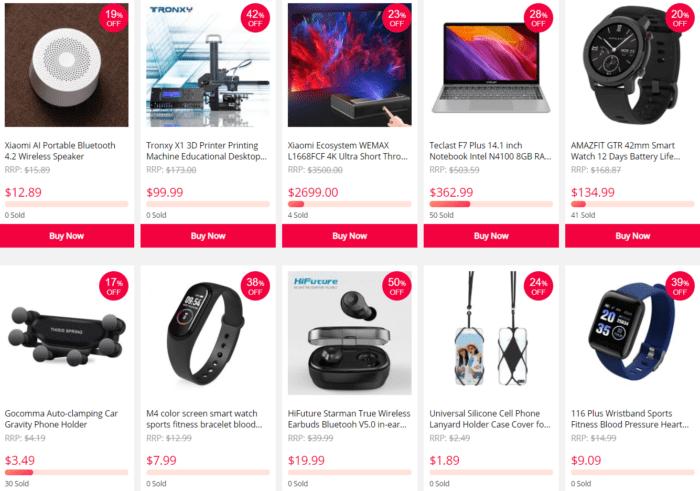 bleskový prodej na Gearbestu
