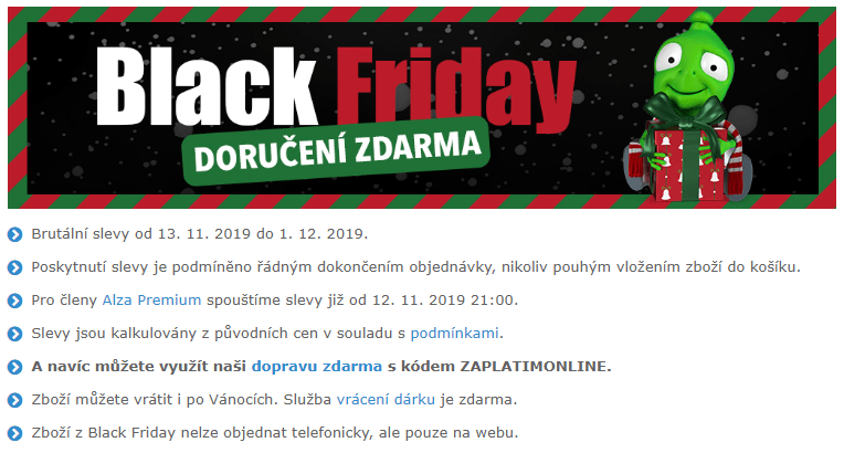 Black Friday na alze